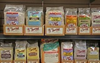 Whole grain flours and oats