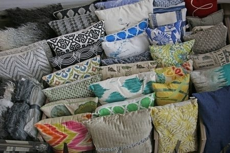 A selection of throw pillows