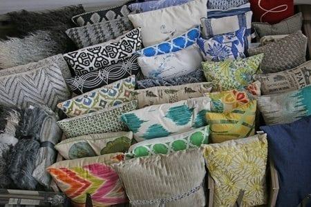 A selection of throw pillows