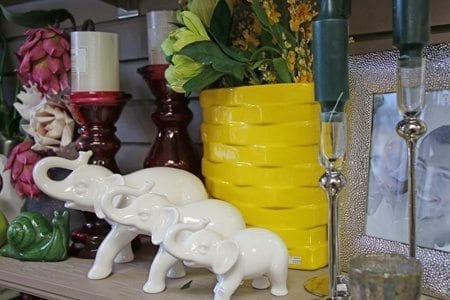 Elephant ornament and candle holder